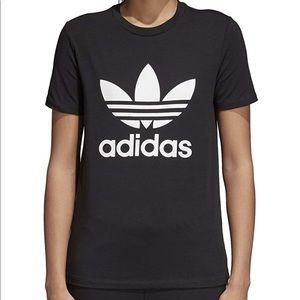 Adidas Trefoil Tee in Black - Medium